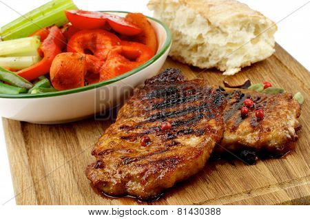 Roasted Steaks And Vegetables