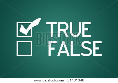 Questionnaire with two choices True False with True Checked