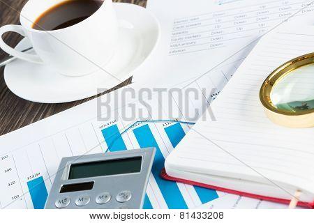 Business desk still life
