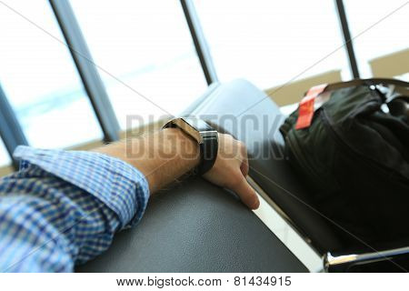The passenger in the airport