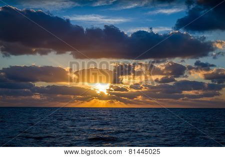 Sunrise at ocean