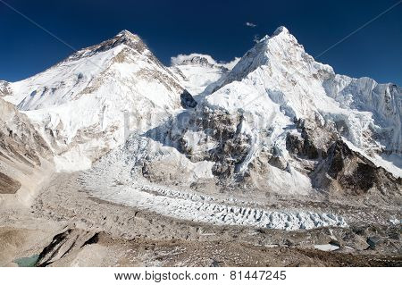 Beautiful View Of Mount Everest, Lhotse And Nuptse