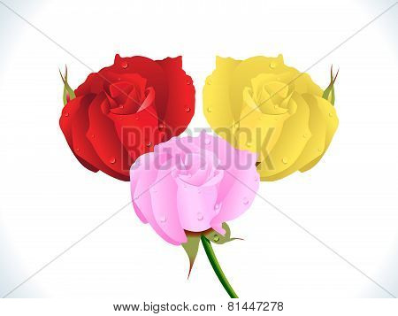 Abstract Artistic Detailed Colorful Rose