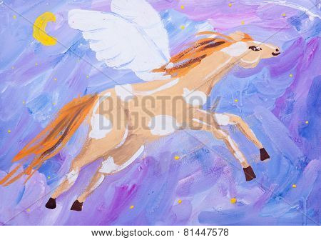 Child Picture Of Fling Horse