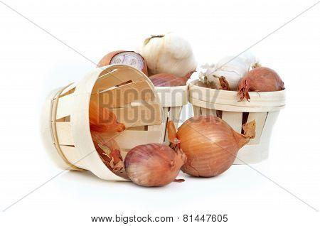 Garlic,onions,shallots