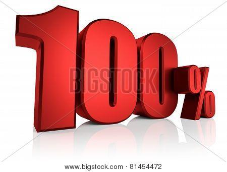 Red 100 Percent