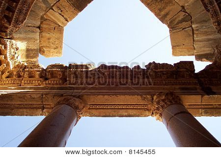 Top of columns in Baalbek