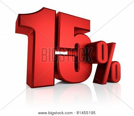Red 15 Percent