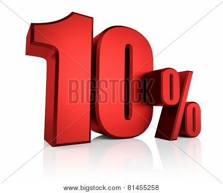 Red 10 Percent