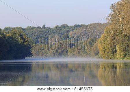 River At Autumnal Morning