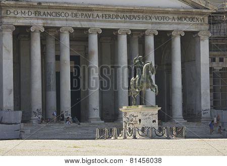 San Francesco Di Paola Church In Piazza Del Plebiscito, Naples