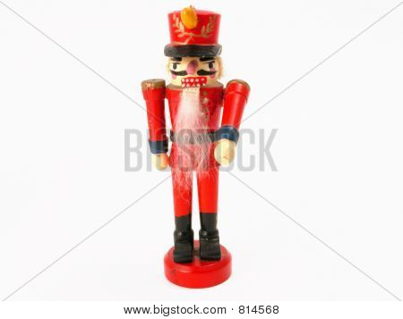 small German wooden nut cracker doll