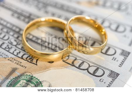 Wedding Rings On Us Dollar