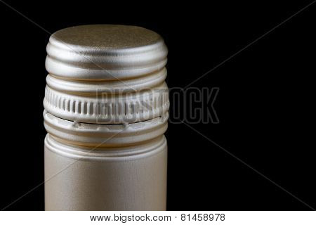 Close up wine bottle screw cap