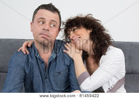 Man Not Interested In The Woman