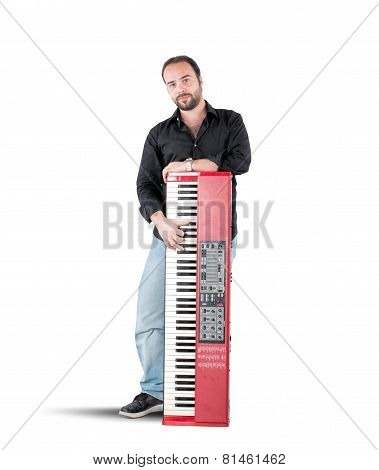 Musician and piano