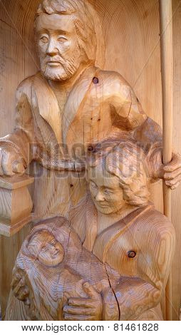 ST. WOLFGANG, AUSTRIA - DECEMBER 14: Nativity scene, creche or crib, is a depiction of the birth of Jesus in St. Wolfgang on Wolfgangsee in Austria on December 14, 2014.