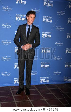 SANTA BARBARA - JAN 29:  Eddie Redmayne at the Santa Barbara International Film Festival - Cinema Vanguard Award at a Arlington Theater on January 29, 2015 in Santa Barbara, CA