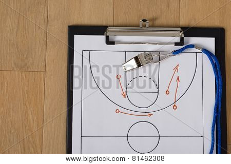 Whistle And Sport Tactics On Paper