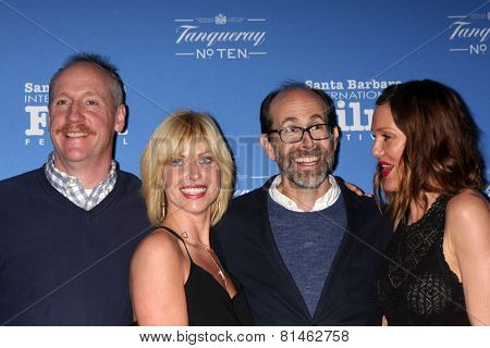 SANTA BARBARA - JAN 29:  Matt Walsh, Morgan Walsh, Brian Huskey, Erinn Hayes at the SBIFF - Cinema Vanguard Award at a Arlington Theater on January 29, 2015 in Santa Barbara, CA