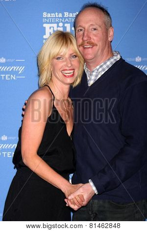 SANTA BARBARA - JAN 29:  Morgan Walsh, Matt Walsh at the Santa Barbara International Film Festival - Cinema Vanguard Award at a Arlington Theater on January 29, 2015 in Santa Barbara, CA