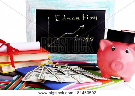 Education costs concept