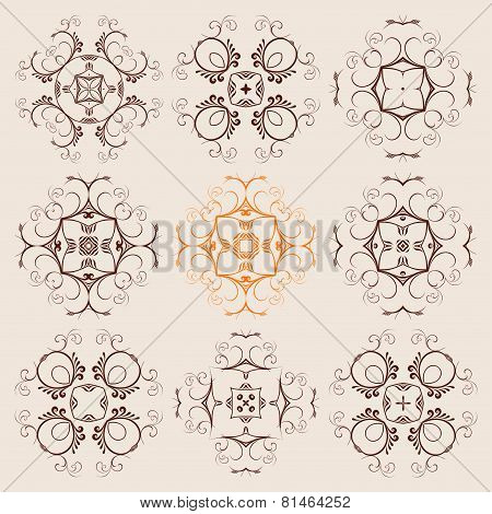 A Round Ornament Set On Background