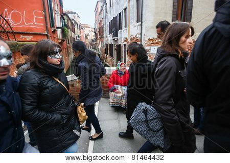 Woman Begging In Venice