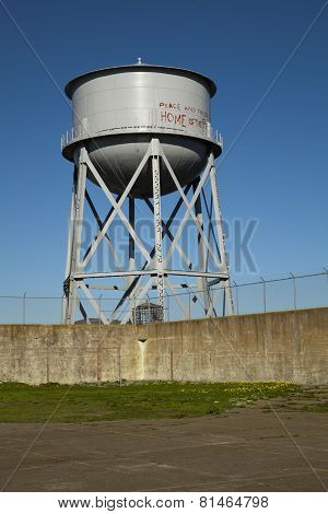 Water Tower on Alcatraz Island