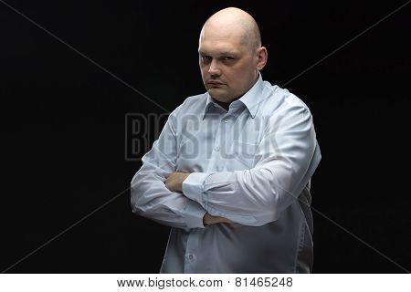 Image of thinking man in glasses