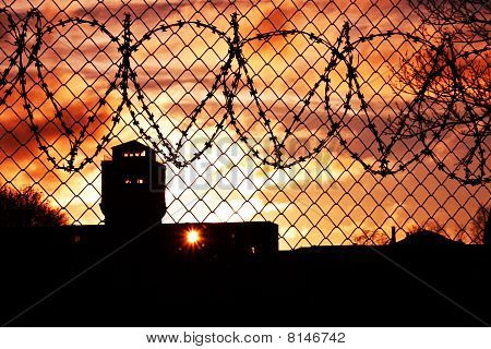 Sunset Over Prison Yard
