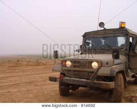 Israeli army jeep