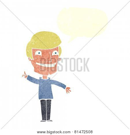 cartoon grinning man