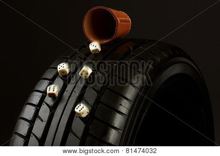 Tyre and cube