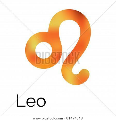 Zodiac Symbol Leo, Vector Sign