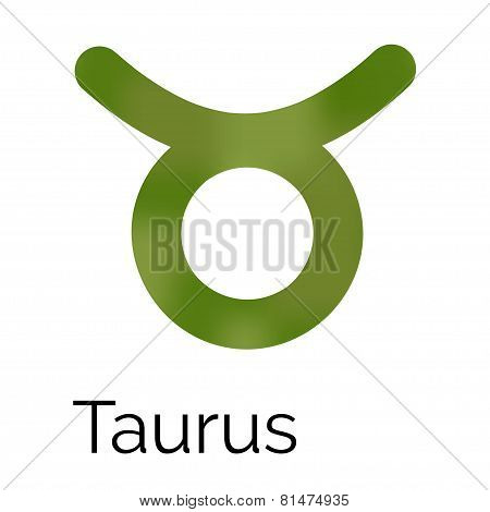 Zodiac Symbol Taurus, Vector Sign