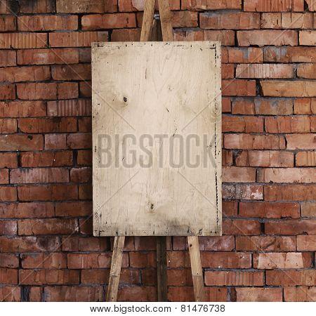 Easel Art Background, Brick Wall