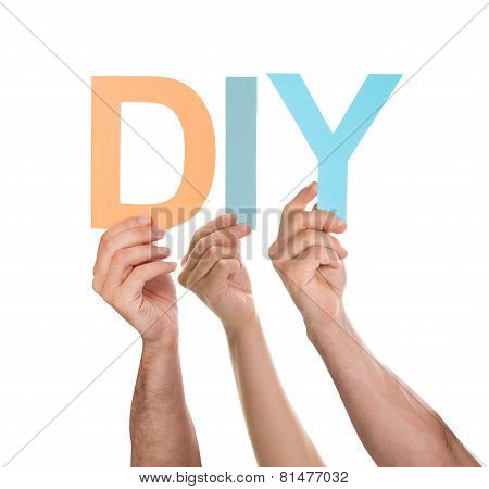 Hands Holding Text Diy