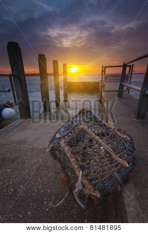 Sunset At Mudeford Quay In Hampshire