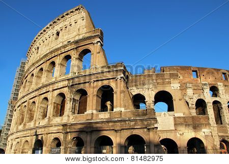 Beautiful View Of Coliseum, Italy