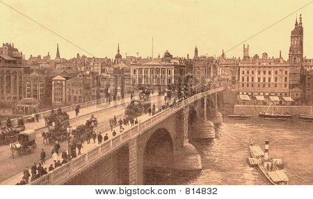 London Bridge In About 1905 (sepia)