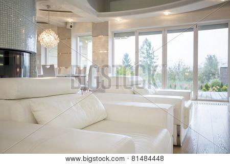 Comfortable Armchairs In Luxury Interior
