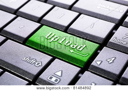 Upload button on the computer keyboard