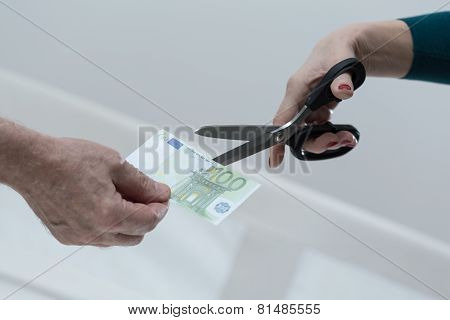 Cutting The Banknote