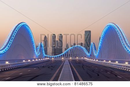Meydan Bridge At Night