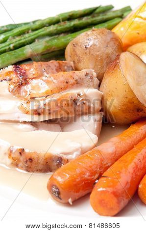 Roasted Turkey Dinner With Seasonal Vegetables