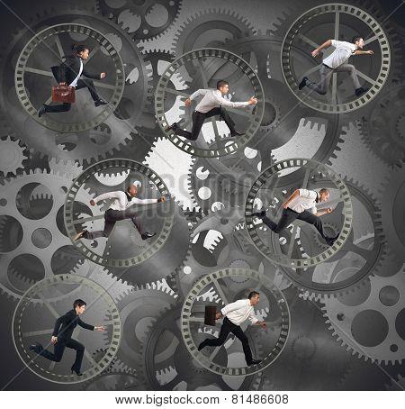 Gear businesspeople