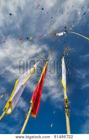 Buddhist Prayer Flags In Nepal