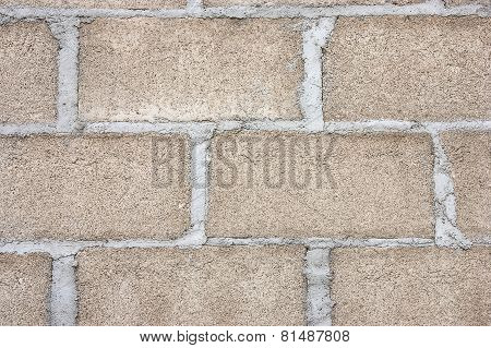 Walls Are Built With Bricks.