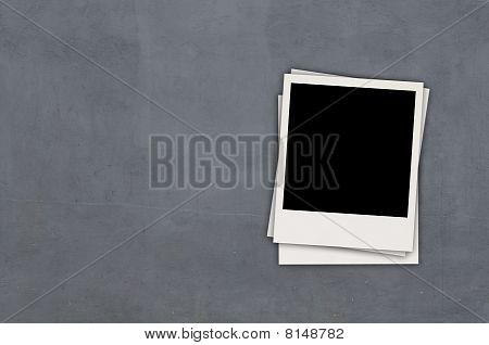 Blank Photo on Gray Wall